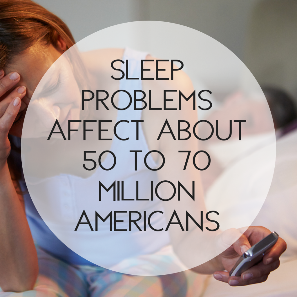 50 to 70 Million Americans have sleep problems